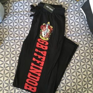 Harry Potter Gryffindor Black PJ Pants, Size XS
